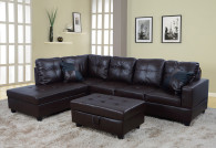 2 PCS JOSEPH BROWN SECTIONAL WITH ACCENT PILLOWS (RIGHT FACING SOFA) - F093A
