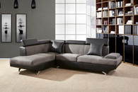 2 PCS BRAYDEN GREY SECTIONAL WITH ACCENT PILLOWS (RIGHT FACING SOFA) - F2805A