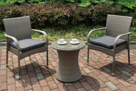 3PC OUTDOOR GREY BISTRO SET