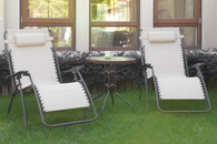OUTDOOR LOUNGER SET WHITE
