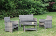 4PC OUTDOOR PATIO SOFA SET