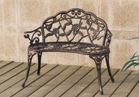 MAJESTIC FLORAL PATTERN OUTDOOR BENCH