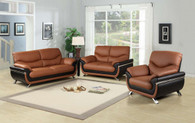 JACKSON BROWN SOFA LOVESEAT WITH CHAIR 3 PCS Set - F212