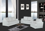 HUNTER WHITE SOFA LOVESEAT WITH CHAIR 3 PCS Set - F15