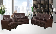 KEVIN BROWN SOFA LOVESEAT WITH CHAIR 3 PCS Set - F17