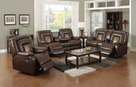 Jose 3 PC Sofa Loveseat With Recliner & Drop Table Set - GS3900