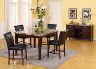 MARCO COUNTER HEIGHT TABLE BAR STOOL 5 PC Set - L1006E-T
