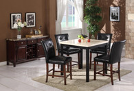 SAMUELE COUNTER HEIGHT TABLE BAR STOOL 5 PC Set - L1006W-T