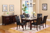 MICHELE COUNTER HEIGHT TABLE TOP 7 PC Set - D001-T(D001-C)-7PC