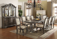 KIERA DINING TABLE TOP 5 Piece Set (Grey) - 2151-GY