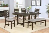 ELDA DINING TABLE TOP & BENCH 6 PC Set - 2297