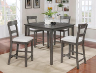 Henderson Counter Height Table Top 5 PC Set - Grey - 2754-GY