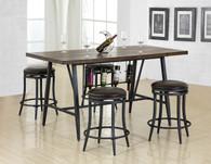 DAVID COUNTER HEIGHT TABLE & SWIVEL STOOL 5 PC Set - 2809T-3669