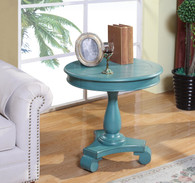 CONSTANCE ROUND END TABLE-AQUA-7167-AQ