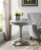 CONSTANCE ROUND END TABLE-GREY -7167-GY