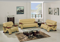 Sofa SET in CAPPUCCINO Bonded Leather