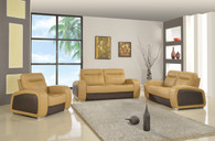 CONTEMPORARY SOFA SET U3001 CAPPUCINO/BROWN