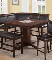 """HARRISON COUNTER HEIGHT W/22"""" LAZY TABLE-2726T/4848"""