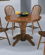 DARK OAK PEDESTAL TABLE-1056D/OAK