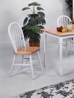 ASSEMBLED WINDSOR CHAIR WH / NAT 2 PCS SET-2303WH/NAT/ASSE