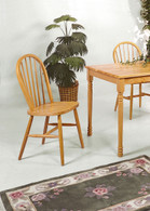 "WINDSOR CHAIR 36""H L. OAK 2 PCS SET-2304L/OAK"