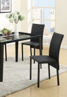 RETRO STYLE DINING CHAIR BLACK FEBRIC 2 PCS SET-F1305