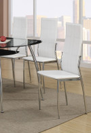 MODERN STYLE DINING CHAIR WHITE 2 PCS SET-F1278