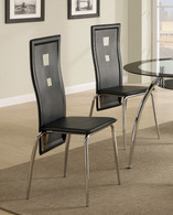 CONTEMPORARY STYLE DINING CHAIR BLACK 2 PCS SET-F1273