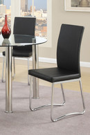 MODERN DINING CHAIR BLACK 2 PCS SET-F1439/1