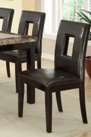 DARK BROWN HIGH BACK DINING CHAIR 2 PCS SET-F1051