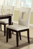 WHITE HIGH BACK DINING CHAIR 2 PCS SET-F1052
