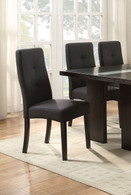 BLACK FUTURISTIC STYLE DINING CHAIR 2 PCS SET-F1589