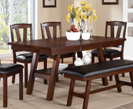 DARK WALNUT FINISH DINING TABLE-F2271