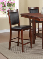 ACACIA BLACK FAUX LEATHER COUNTER HEIGHT CHAIR 2 PCS SET-F1387