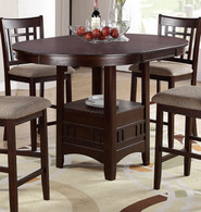 LOVELY WOOD FINISH COUNTER HEIGHT TABLE-F2345
