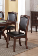 IMPERIAL DESIGN BROWN DINING CHAIR 2 PCS SET-F1338