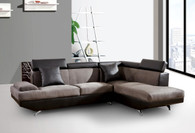 2 PCS BRAYDEN GREY SECTIONAL WITH ACCENT PILLOWS (LEFT FACING SOFA)