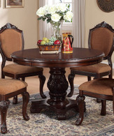 ASTOUNDING CARVED FLORAL ACCENTS DINING TABLE-F2187/A