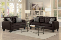 SINCLAIR COLLECTION 2PCS SOFA AND LOVESEAT IN CHOCOLATE