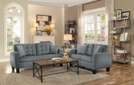 SINCLAIR COLLECTION 2PCS SOFA AND LOVESEAT IN GRAY