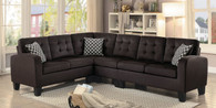SINCLAIR COLLECTION REVERSIBLE SECTIONAL CHOCOLATE FABRIC WITH PILLOWS