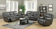 FLORENCE GREY RECLINER SOFA AND LOVESEAT 3PCS MOTION SET-Florence-Grey