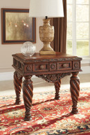 CHRISTOPHER WOODEN END TABLE-T963-END