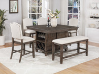 REGENT COUNTER HEIGHT TABLE 5 PCS DINING ROOM SET-2772T