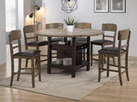 CONNER ESPRESSO WALNUT COUNTER HEIGHT TABLE SET-2849EW