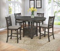HARTWELL GREY COUNTER HEIGHT TABLE 5 PCS SET-2795GY