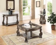 MADISON WOOD COFFEE TABLE GREY-4320-GY-TBL