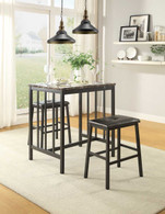EDGAR COUNTER HEIGHT TABLE 3 PCS SET-5106BK