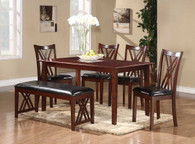 BROOKSVILLE CHERRY FINISH DINETTE 6 PCS SET-2459