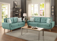 DERYN COLLECTION SOFA AND LOVE SEAT 2 PCS SET-8327TL